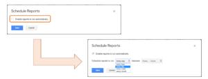 スケジュールレポート設定方法